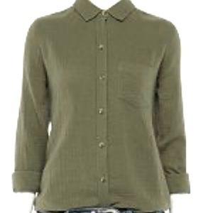 Apt. 9 Olive Green Button Down Shirt